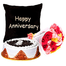 Happy Anniversary Sweet Floral Combo: Send Flowers To Pakistan