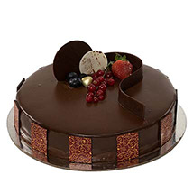 1kg Chocolate Truffle Cake SA: Send Gifts to Saudi Arabia