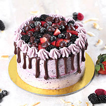 Delicious Chocolate Berry Cake Half Kg: Cake Delivery in Saudi Arabia