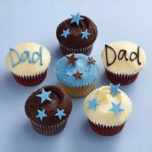 Starry Cupcakes For Dad: