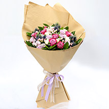 Exotic Roses and Hypericum Mixed Bouquet SG: Florist Singapore