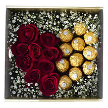 Hearty Choco Arrangement:  Flower Delivery Sri Lanka